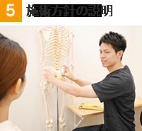 施術の流れ5:施術方針の説明